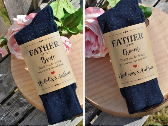 Wedding Sock Label For Father Of The Bride And Groom Wedding Gift