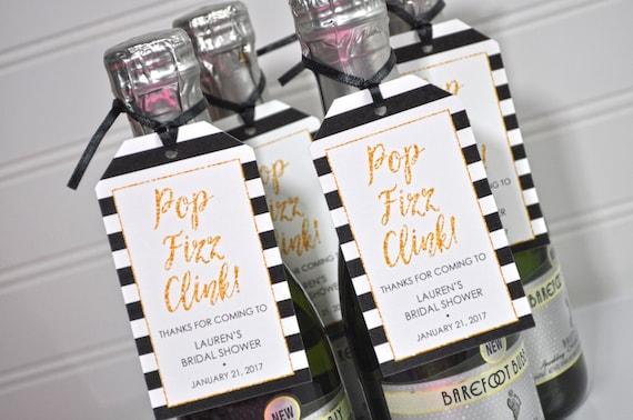 Mini Wine Bottle Favor Tags Bridal Shower Favors Personalized