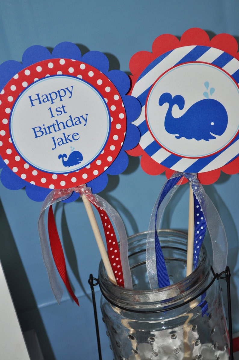 Nautical 1st Birthday Centerpiece Sticks Boys