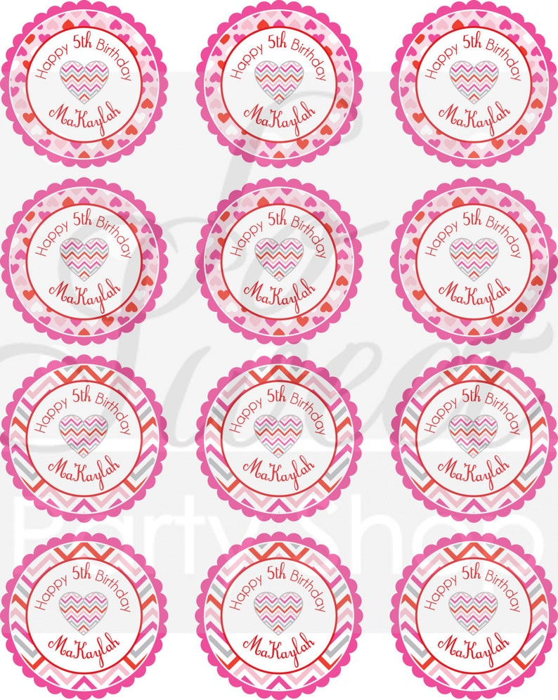 Classroom Valentines Treat Bag Stickers Class Party Set of 24 Goodie Bag Stickers Kids Valentines Valentine/'s Day Stickers