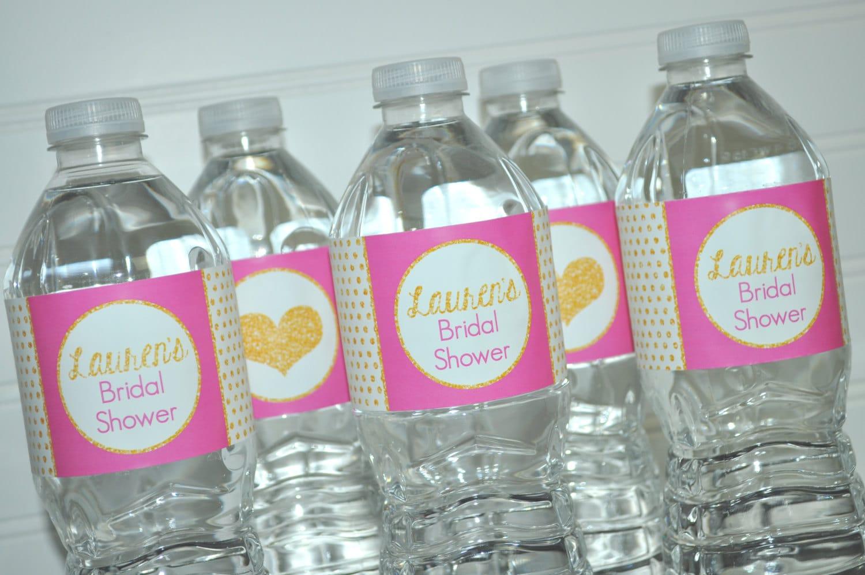 Bridal Shower Water Bottle Labels Wedding Water Bottle