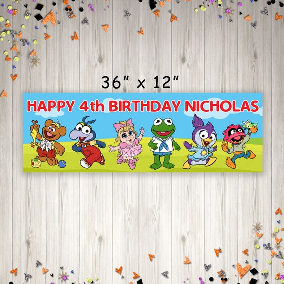 Muppets Birthday Banner, Muppet Babies Birthday Party