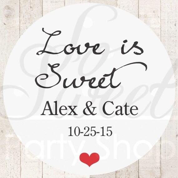 Wedding Favor Sticker Labels Wedding Favors Bridal Shower Etsy