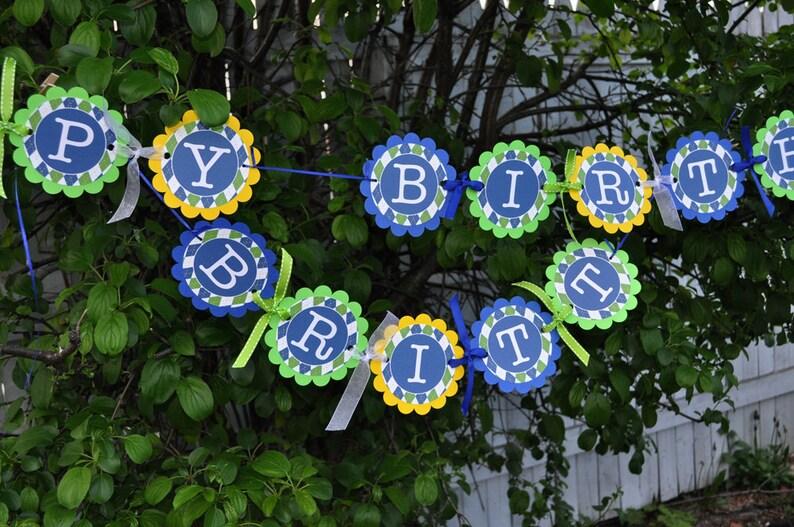 Argyle Birthday Banner Boys Birthday Decorations Argyle Etsy