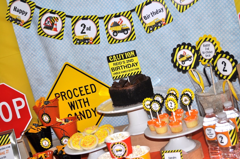 Construction Birthday Banner Construction Birthday Decorations