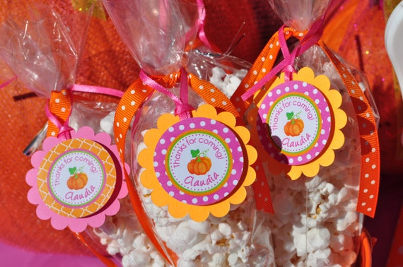 24 Personalized Construction Themed Birthday Favor Scalloped Tags Party Favors