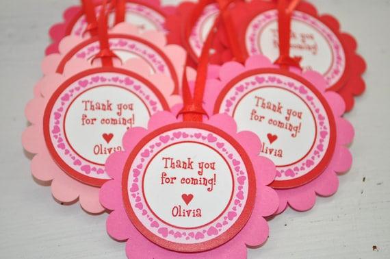 Valentine Favor Tags Girls Valentine S Day Birthday Etsy