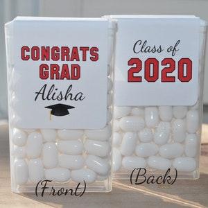 Sweet Success Congrats Grad Personalized Party Favor Set of 24 Labels Graduation Party Favor Stickers Gold or Silver Graduation Sticker