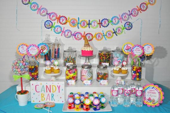 Terrific Birthday Banner Sweet Shoppe 1St Birthday Banner Rainbow Download Free Architecture Designs Rallybritishbridgeorg