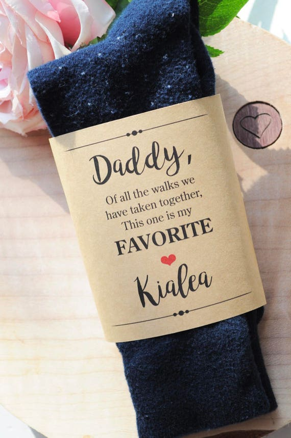 Wedding Sock Label For Dad Father Of The Bride Gift Wedding Gift