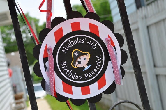 Pirate Party Door Sign Boys Pirate Birthday Party Decorations