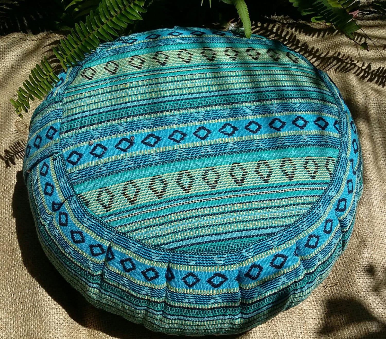 BUCKWHEAT Hull Meditation Cushion Covered In Exotic Cusco