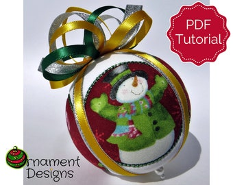 Christmas Ornament Tutorial - Pattern - DIY - No Sew - Circle Picture Window