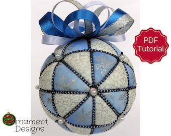 Christmas Ornament Tutorial - Pattern - Instructions - DIY - No Sew - Windmills