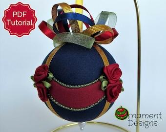 Christmas Ornament Tutorial - Pattern - DIY - No Sew - Drapes