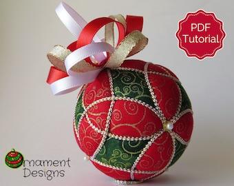 Christmas Ornament Tutorial - Pattern - Instructions - DIY - No Sew - Trinity