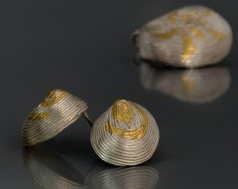 Ethnic african stud earrings Boho post earrings Bridal earrings Beach wedding Keum boo Anniversary gift