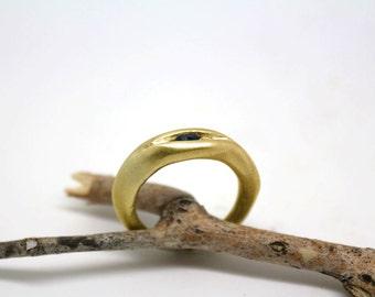 Unique Sapphire  engagement  ring, September birthstone ring, modern ring