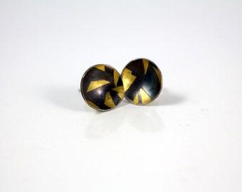 Small stud earrings Keum boo earrings Bridal earrings Minimalist earrings