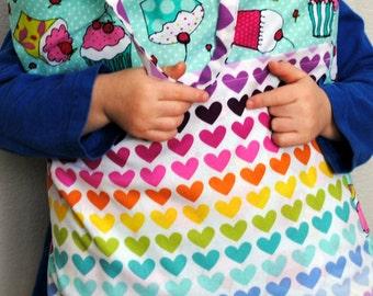 Small Pillow-Travel Pillowcase-Pocket Pillow-Small Pillow-Car Pillow-Cupcakes-Child's Pillow-Girl Pillow-Road Trip-Girl Easter Present