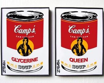 """Suzi Quatro """"Glycerine Queen"""" Pop Art Soup, original framed art duo by Zteven"""