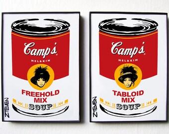 Mel & Kim PWL Pop Art Soup! original framed artwork set by Zteven