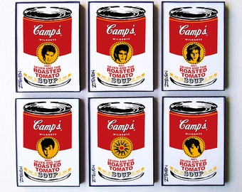 Duran Duran Pop Art Soup, framed original art set of 6 by Zteven