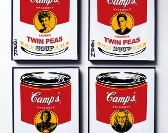 Twin Peaks Pop Art Soup, original framed art by Zteven