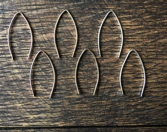 Simple V Shaped Wire Earrings in 14k gold fill or sterling silver by Betsy Farmer Designs