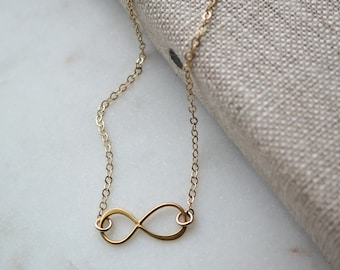 Infinity Bracelet - 24k Gold Plate with 14k Gold Fill Chain