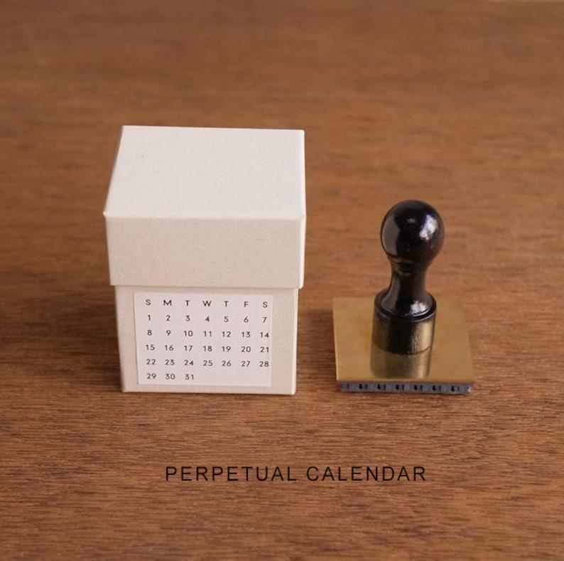 Mizushima Perpetual Calendar Rotary Rubber Stamp