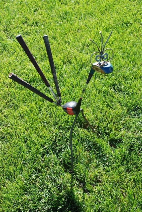 Golf Driver Sculpture Garden Decor Gift, Golf Outdoor Decor