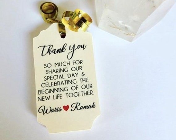 IVORY PAPER AVAILABLE Thank You Wedding Tag, thank you gifts, wedding favors, wedding favor ideas, ivory paper, ivory tags ivory wedding