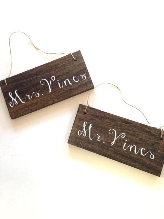 ONE CUSTOM wooden signs - - - - write anything! Mr. Mrs. Custom Vinyl Signs, beautiful handwritten font, custom Mr. Mrs Sign, wedding signs