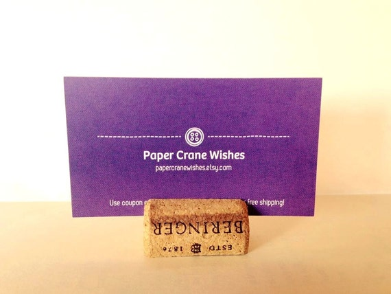 Wine Cork Place Card Holders, wedding parties, upcycled wine corks, wine cork crafts, escort cards