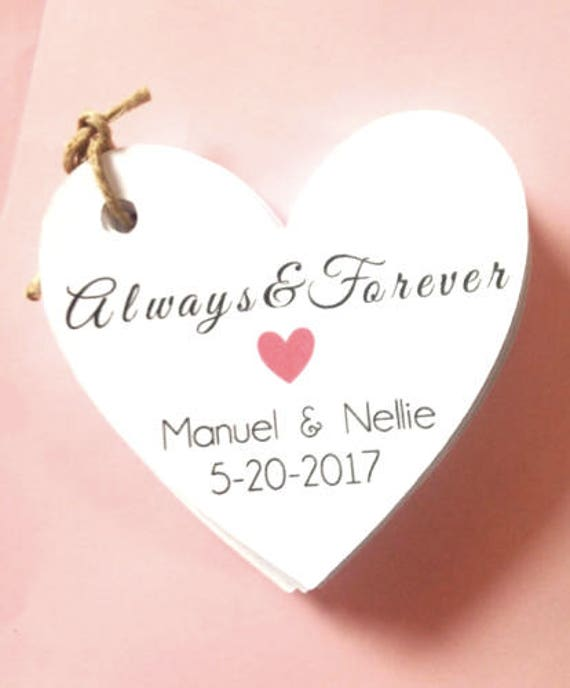 Always and Forever custom tags, with custom name, heart , custom tags, wedding, favor tags, thank you tags, party favors,