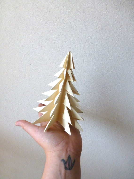 Origami Evergreen Tree, Christmas Tree, Papercrafts, Christmas Decor, Paper Forest Tree Forest, Evergreen, National Parks, Zen