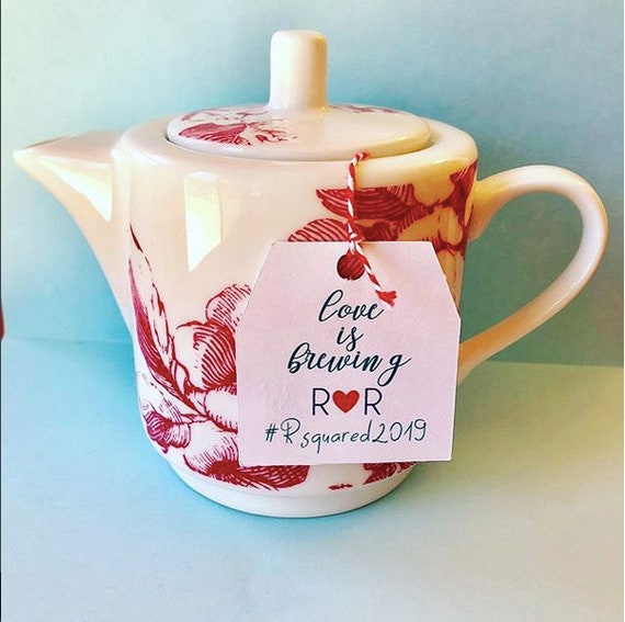 Love Is Breweing Tea Bag Tags, thank you tags, tea wedding favors, tea party, tea favors, high tea, bridal showers, baby showers, tea shower