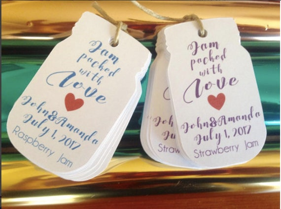 Set of 6 Spread the love Tag Wedding Favors Tags Wedding Gift Tags Wedding Spread the Love Jam Labels Canning Labels Wedding Favors