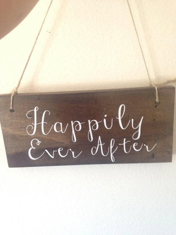 Happily Ever After, New married couple sign, est. sign, wedding, anniversary, bride groom signs, chalkboard wedding, rustic, country wedding