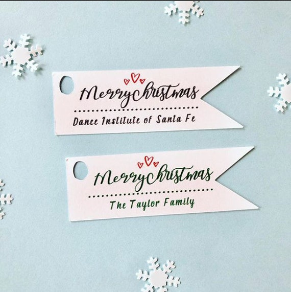 Merry Christmas CUSTOM TAGS, custom color options, different customization options, gift tags, Christmas gift tags, tags for Christmas