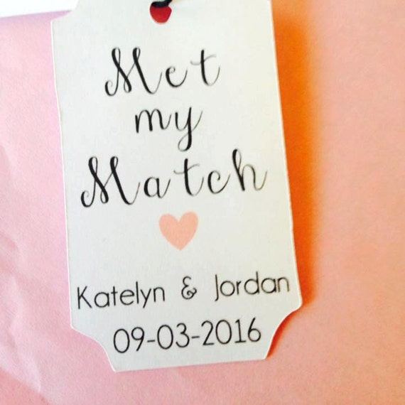 Met My Match custom tag wedding, sparkler sendoff, wedding tags, custom tags, plant favor, Custom color, Personalized Tags, wedding favors