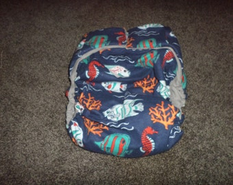 Adult  Incontinence  Sea Creatures Adult Cloth Reusable Diaper Buy 4 Get 1 Free