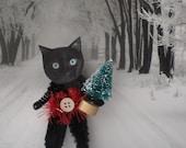 bekka boo the Christmas kitty cat - chenille ornament