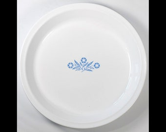 Pie Pan Dish Corning Ware Blue Corn Flower 309 9 USA Vintage