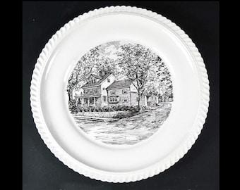 1957 Limited Edition Plate Gilder House Bellevue Bordentown NJ 1788 Historic No.1293