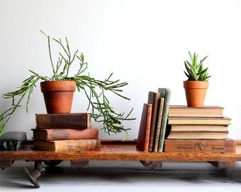 vintage creeper / wood, industrial decor