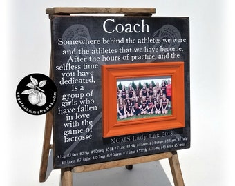 Lacrosse Coach Gift, Lacrosse Picture Frame, Lacrosse Gift, Coach Thank You Gift, Lacrosse Senior Gifts, 16x16 The Sugared Plums Frames