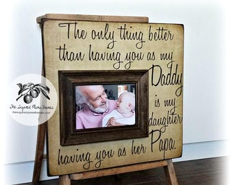 Fathers Day Photo Frame, Fathers Day Gift, Gift for Grandpa, Gift Personalized Dad Gift, Grandpa Gift, 16x16 The Sugared Plums Frames