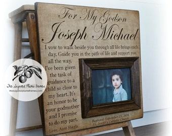 Boy Baptism Gift, Baptism Gift For Godson,  Gift From Godmother Godfather, Baptism Keepsake, For My Godson 16x16 The Sugared Plums